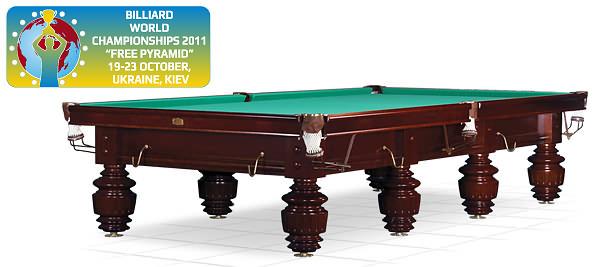 «Turnus» - официальный стол Чемпионата Мира по Пирамиде. Рекомендовано Федерацией Бильярдного Спорта России